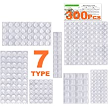 Fu Store Clear Self Adhesive Bumpers Noise Dampening Buffer Pads 100PCS 3//8 Inch Protection for Cabinet Door Drawer Wooden Floor-Hemispherical