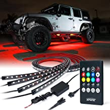 2PCS SIZZLEAUTO 6ft ATV UTV LED Whip Lights RGB Lighted Antenna Whips RF Remote Control w//US Flag for Off Road Jeep Sand Rails Buggies 4X4 Quad Can-am Maverick Yamaha Polaris RZR