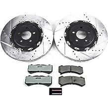 Callahan CCK03303 REAR 2 Drilled//Slotted Rotors + 4 Ceramic Brake Pads Premium Grade Original Loaded Calipers + 2