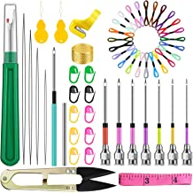 136pcs Embroidery Pen Punch Needle with 100 Color Threads VETUZA Magic DIY Embroidery Pen Set Embroidery Patterns Punch Needle Kit Craft Tool for Sewing Pattern Knitting