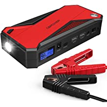 Up to 7.5L Gas or 5.5L Diesel Portable Car Jump Starter Power Pack with LCD Screen Dual QC3.0 USB Output and LED Flashlight 12V 20800mAh Car Battery Booster YABER Car Jump Starter 1000A Peak