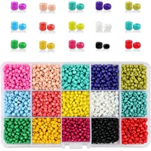 Willan 300pcs Crackle Round Glass Beads Lampwork Acrylic Loose Beads,85pcs Spacer Beads Diverse Pendant with 2 Roll Crystal String for Accessories Necklaces DIY Bracelets Jewelry Making