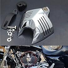XMMT Matte Black Steel Horn Cover Compatible For Harley Davidson Touring Models 1993-2018