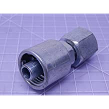 Female JIC 37 Flare Swivel Gates G27170-0404 1 Wire 1//4 ID 4C1T-4RFJX Field Attachable Type T for G1 Hose