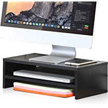 FITUEYES Clear Computer Monitor Riser Dual Desktop Stand for Xbox One//component
