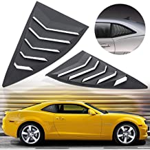 Matte Black Z06 Z51 ZR1 in GT Lambo Style Custom Fit All Weather ABS Grand Sport E-cowlboy Rear and Side Window Louver Windshield Sunshade Cover for 2014-2019 C7 Corvette Stingray