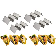 Pack Of 3 Stainless Steel Tacos Holder Oven Safe Easy Clean 460 Grade Steel Hold 2-3 Tacos