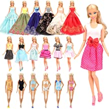 Nounita Lot 15 Items = 5 Sets Clothes Dolls Dress Clothing Outfits Costume 10 Pair Shoes for 11.5 inch Doll