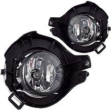 ATFL0372 AUTOSAVER88 Fog Lights H8 12V 25W Halogen Lamp For Honda Civic 2016-2018 2-Door 4-Door Clear Glass Lens w//Wiring Kit /& Swith