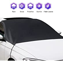 KONGDY Car Windshield Snow Ice Cover Car Sunshades for Windshield with Magnetic Edges Car Snow Cover Waterproof Frost Heat Preservation Durable Fit for Most Vehicles