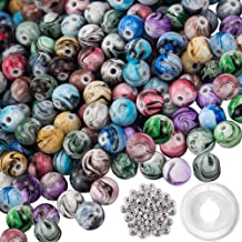 Cridoz 200pcs Gemstone Beads with Assorted Color for Jewelry Making Bracelet Necklace Natural Stone Beads
