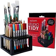 MEEDEN 11 X 10.5 Inch Mesh Paint Brushes Case Zippered Brush Holder Short Handle Black
