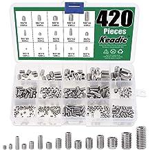 Canitu 200Pcs Hex Socket Screws Internal Allen Head Cup Point M3x3 M3x4 M3x6 M4x4 M4x6 M5x5 M5x8 M6x6 M6x10 M8x8 Assortment Tool Kit Set with Box