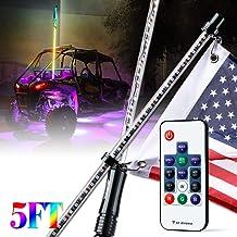 Addmotor Orcas 5 Feet LED Whip Light Flag Quick Release for ATV UTV Jeep Blue