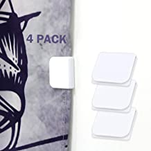 Self Adhesive Windproof Stop Protect Clips DNHCLL 2 Pack White Shower Curtain Clips Anti Splash Shower Guard Curtain Clip
