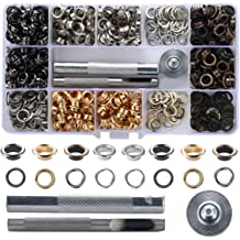 Bememo 1//4 Inch Grommet Kit 100 Sets Grommets Eyelets with 3 Pieces Install Tool Kit 2 Colors