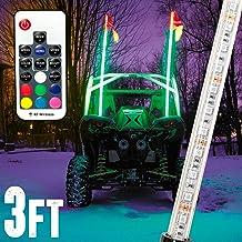 AddSafety 4FT White LED Whips Light UTV Whips LED Antenna Light For Off Road Vehicle ATV UTV RZR Jeep Trucks Dunes