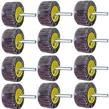 "5 Pack Abrasive Flap Wheels 2/"" x 1/"" x 1//4/"" Shank Aluminum Oxide 120 Grit Mounted"