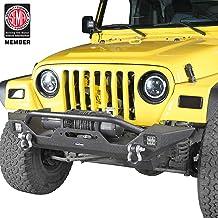Hooke Road Rear Bumper w//Tire Carrier /&Hitch Receiver fit 97-06 Jeep Wrangler TJ
