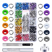 12 Colors OFNMY 360 Sets 3//16 Inch Multi-Color Grommets Kit Metal Eyelets with Installation Tools and Instructor in Clear Box