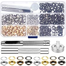 200 Sets Grommet Kit 1//4 Inch Upgraded 4 Colors Grommets Eyelets with 3 Pcs..