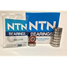 Electric Motor Quality 12 mm Width Double Sealed NTN Bearing 6203LLBC3//EM Single Row Deep Groove Radial Ball Bearing Non-Contact Steel Cage C3 Clearance 17 mm Bore ID 40 mm OD
