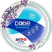 """8 1//2/"""" Plates Dixie Ultra Paper Dinner Plates 300 Count 10 Pks of 30 Plates"""