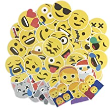 Photo Album or Laptop KISEER Cute Emoji Stickers 1200 Pcs Popular Emoji Face Scrapbooking Stickers for Books Notes 25 Sheets