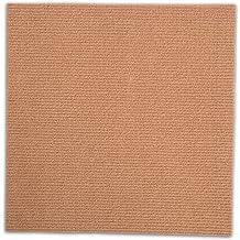 12, Brown CISSLOR Self Adhesive Carpet Floor Peel Tile Square 12 Pcs 12 x 12 Peel and Stick Carpet Floor Tiles Home Furnishings Floor Easy Install DIY