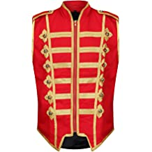 Red Military Drummer Black Parade MCR Steampunk Emo Punk Gothic Jacket BANNED