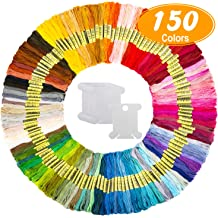 Embroidery Thread Pack Stamped Cross Stitch Kits for Friendship Bracelets ANPHSIN 250 Skeins Embroidery Floss Kit DIY Projects