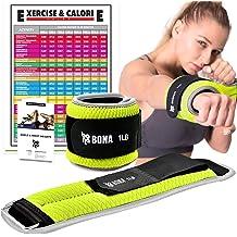 Prodigen 1 Pair 1 LBS Adjustable Ankle Weights Set 2 Pack for Jogging Walking