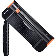 with Ruler and 2 Extra Blades Paper Cutter Craft Paper,Label /& Photos AGPTEK 12 A4 Paper Trimmer with Automatic Security Safeguard for Scrapbooking