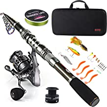 Spinning Fishing Rod and Reel Combos Telescopic Fishing Pole Salt//Freshwater