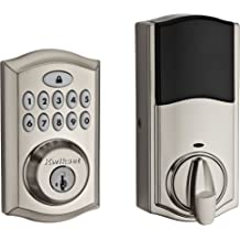 Keyless Door Lock Home Security Digital Keypad Entry Accent Levers Satin Nickel