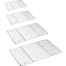 P/&P CHEF Baking Rack /& Cooling Rack Pack of 2 Fits Small Toaster Oven Oven /& Dishwasher Safe Rectangle 8.6 x 6.2 x0.6 Stainless Steel Made for Cooking Baking Roasting Grilling Drying