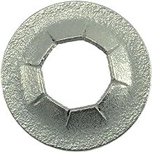 C60008-375-805 Palnut Fasteners 137018002 Palnut Decorative Push-ons, Black Plastic Cap for .375 Stud. OD .805-.865, Height .460, Plastic, Pack of 25
