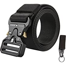 """1.5/"""" Mens Black Heavy Grain Man-made Leather Belt with Metal Buckle"""