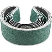 10 Pack 1//2 X 12 Inch 80 Grit Zirconia Air File Sanding Belts