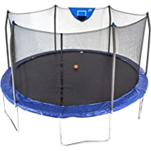 Skywalker Trampolines 15-Feet Jump N Dunk Trampoline with Safety Enclosure and Basketball Hoop
