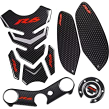 Hamimelon Universal Fit Motorcycle Motorbike Oil Gas Tank Pad Protector Sticker Decal Red