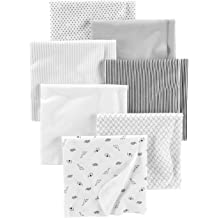 Unisex Baby 4 Pack 100/% Cotton Flannel Receiving Blanket