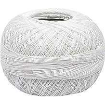DMC 116 8-B5200 Pearl Cotton Thread Balls Size 8 Snow White
