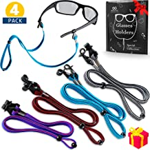 Tomorotec Polyester Eyeglass Retainer with One Free Microfiber Cleaning Cloths Adjustable Eyeglasses and Sunglasses Holder Strap Cord for Sports 8 Pack