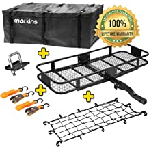 ZENY Universal 53 Hitch Mount Steel Cargo Carrier Luggage Rack Basket 2/'/' Receiver Hitch Cargo Rack
