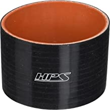 Black 2-1//2  3 ID 50 PSI Maximum Pressure HPS HTSR-250-300-L4-BLK Silicone High Temperature 4-ply Reinforced Reducer Coupler Hose 4 Length