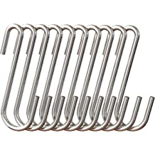 32 Pack Stainless Steel Hooks S Shaped