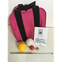 3 pack Heavy Duty 8 Ball Bocce Bag by EPCO red