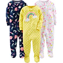 Spotted Zebra Unisex Kids 3-Pack Snug-fit Cotton Footed Sleeper Pajamas Brand