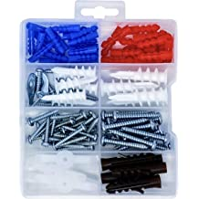 Hilitchi 112-Pieces Large Small Zinc Self Drilling Drywall//Hollow-Wall Anchor Assortment Kit